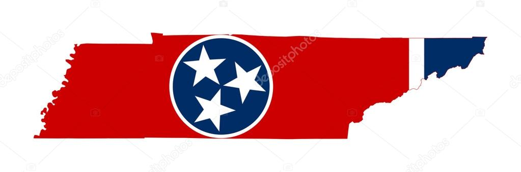 State Of Tennessee Flag Map Stock Photo Speedfighter - Map of state of tennessee