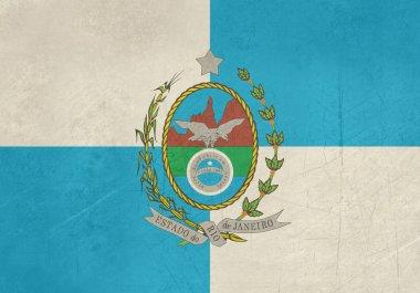 Grunge Rio De Janeiro state flag