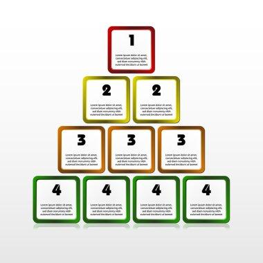 Progress square pyramid