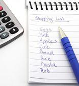 Fotografie nákupní seznam