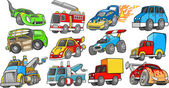Photo Transportation Vehicle Vector Set