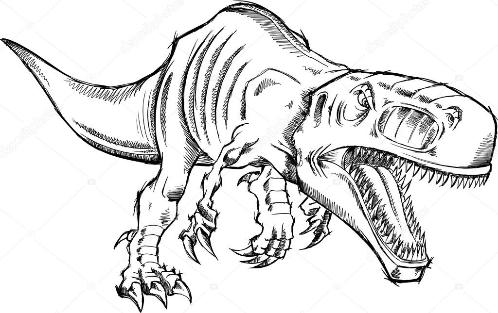 dibujos tiranosaurio rex dibujo dibujo tiranosaurio rex