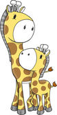 Fotografia Giraffe Safari vettoriale illustrazione