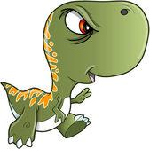 Fotografia duro brutto illustrazione vettoriale di dinosauro di tyrannosaurus rex