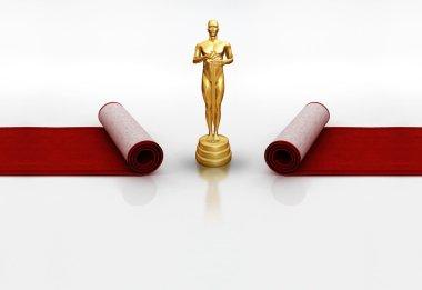 Oscar on red carpet