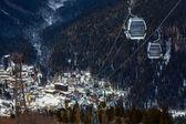 výtah v ski resort dombay
