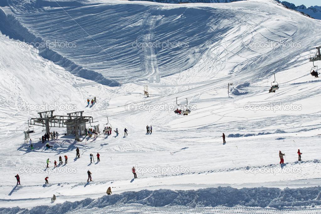 Lift at ski resort Dombay
