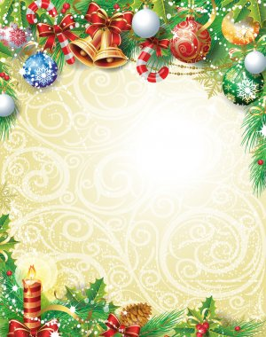 Vintage Christmas background stock vector
