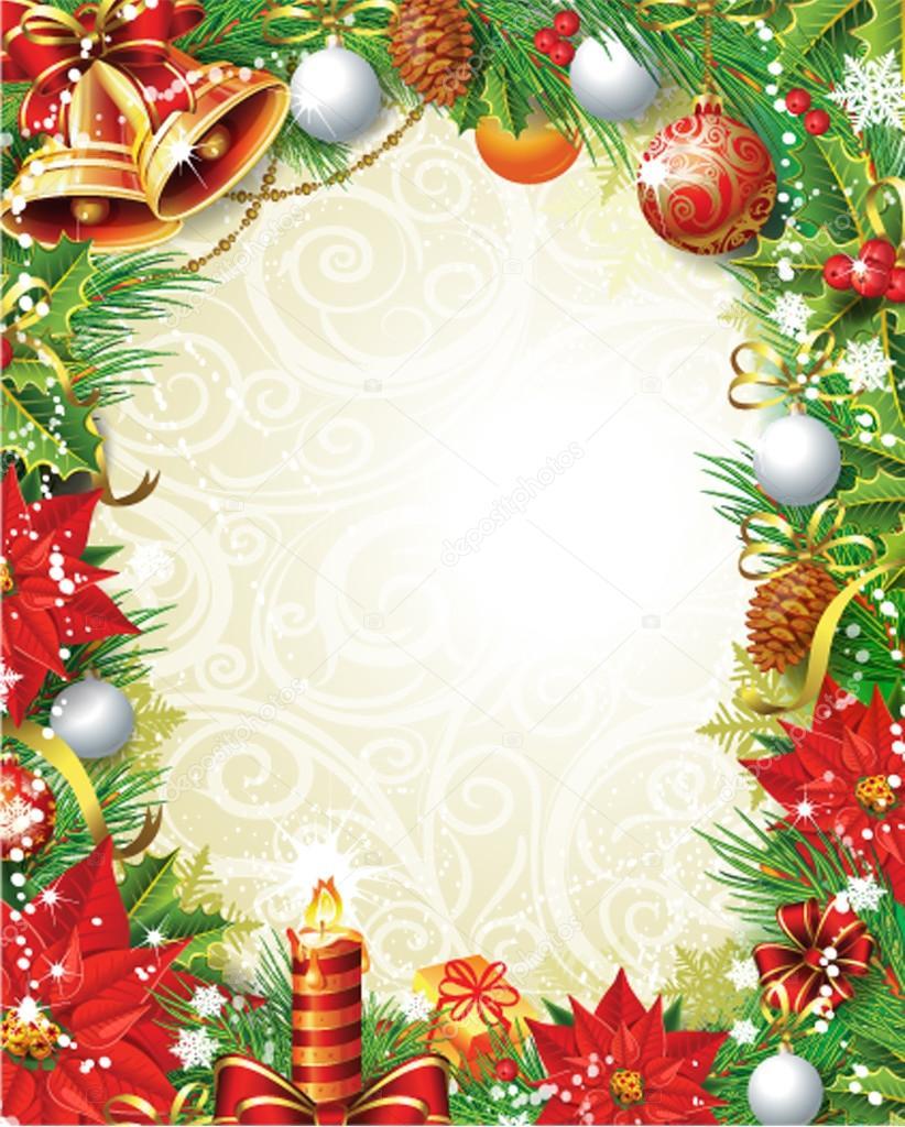 Vintage christmas frame stock vector wikki33 14509651 for Mural de natal 4 ano