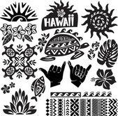 Hawaii fekete-fehér készlet