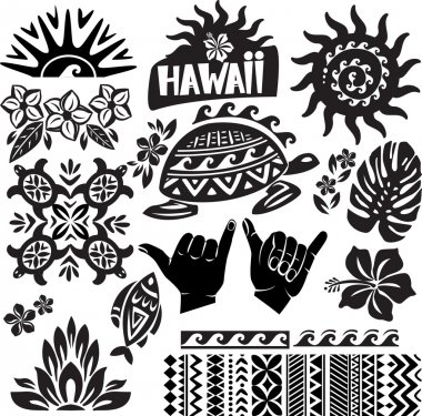 Hawaii Set in black and white