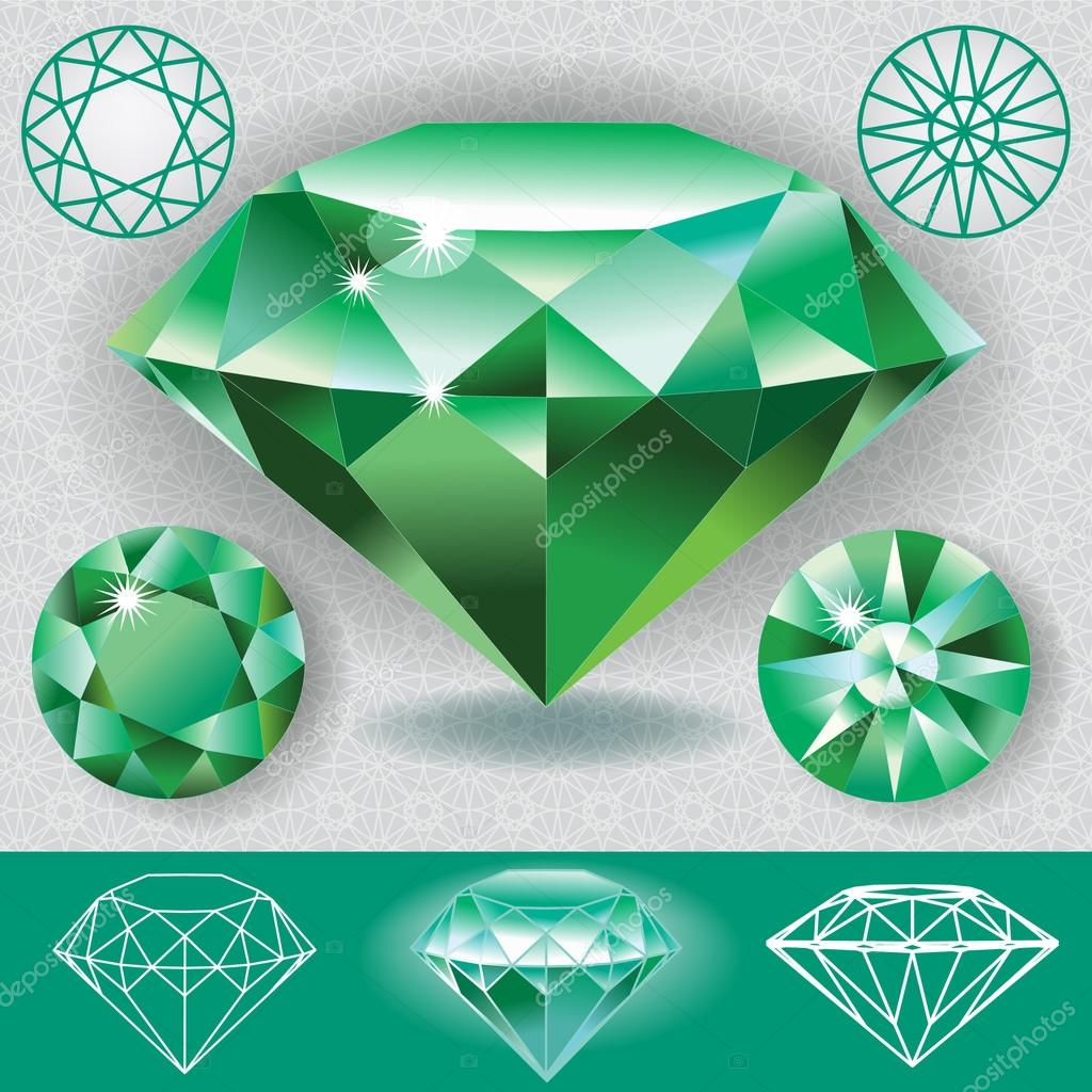 Green Diamond Emerald Gemstone
