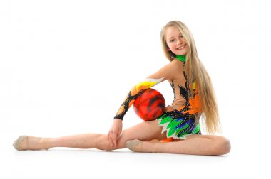 Gymnast with ball