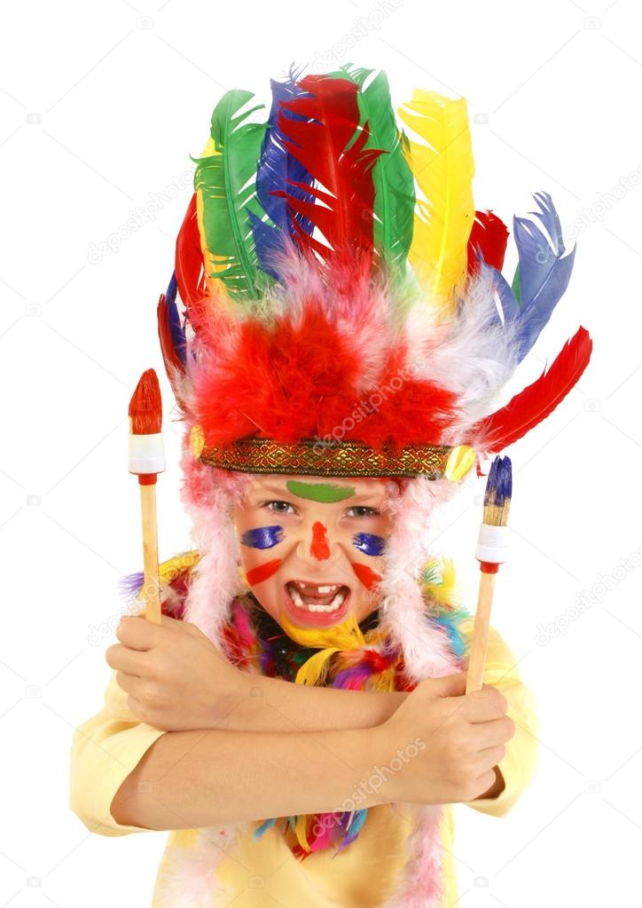 Little messy artist indian costume