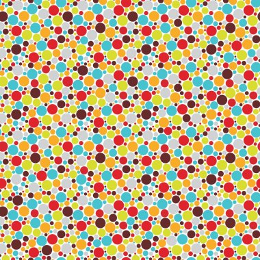 Seamless pattern with cool dots.