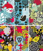 Set vertikaler farbenfroher Karten.