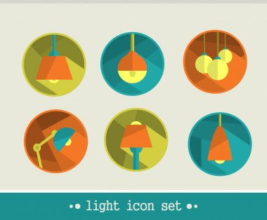 Lamp icon set.