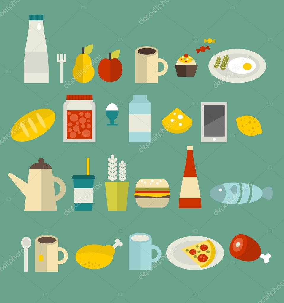 Food icon set.