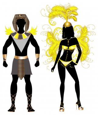 Carnival Egyptian Couple
