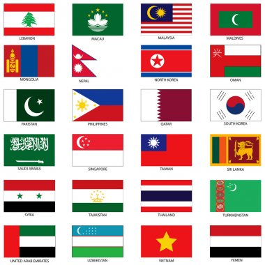 Asian Flags 2
