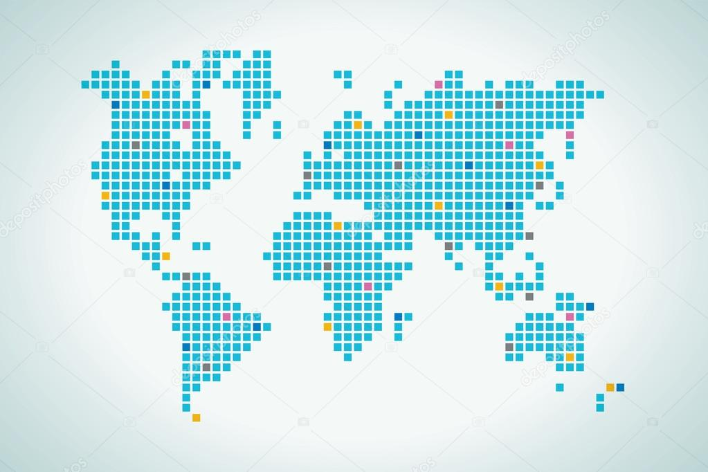 World map in squares dot the map is not in details stock vector world map in squares dot the map is not in details stock vector gumiabroncs Choice Image