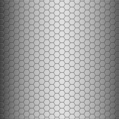 Brushed alloy honeycomb tiles texture with vertical highlight - perfect for 3D modeling and rendering