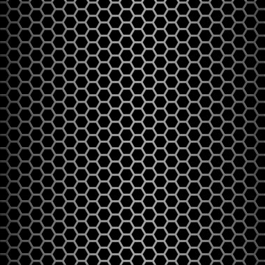 Brushed alloy honeycomb cooling grid texture with vertical highlight, isolated on black - perfect for 3D modeling and rendering