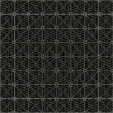Rugged old anti-slip metal grid-tile floor texture with scratches and rust marks - seamless texture perfect for 3D modeling and rendering