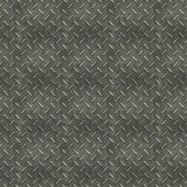 Rugged old anti-slip metal floor texture with scratches and rust marks - seamless texture perfect for 3D modeling and rendering