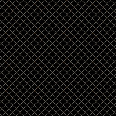 Slightly rusted chain-link fence isolated on black - seamless texture perfect for 3D modeling and rendering