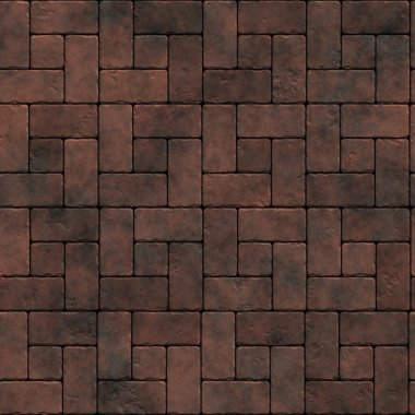 Traditional brick pavement - seamless texture perfect for 3D modeling and rendering