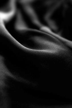 Black silken waves - natural photo texture