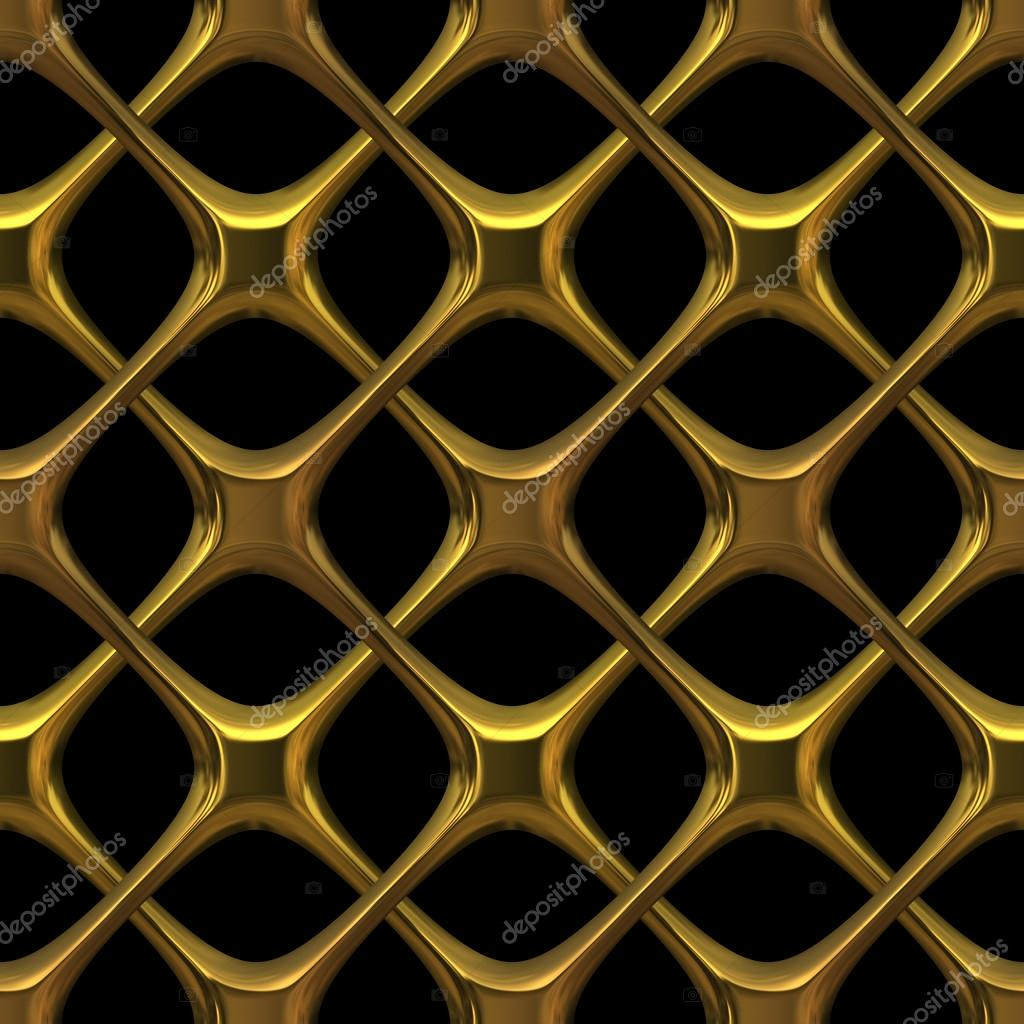 Fancy golden chain-link isolated on black - seamless texture perfect for 3D modeling and rendering