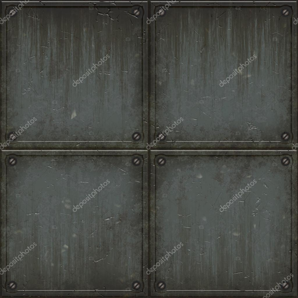 seamless metal wall texture. Old Grungy Brushed Steel Wall Tiles With Bolts Background Seamless Texture Ideal For 3D Modeling And Metal .