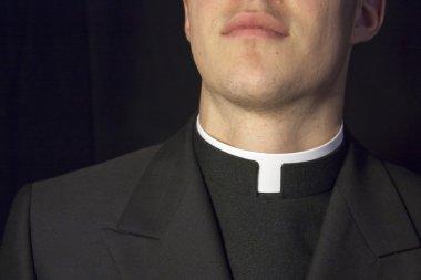 Close-up of Priest collar