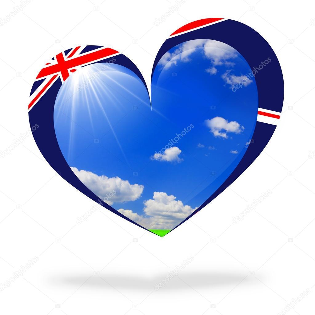 England flag heart