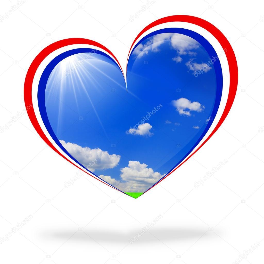 France flag heart