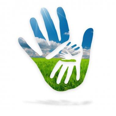 Hands in nature - logo
