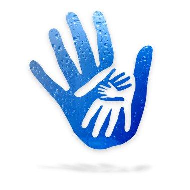 Hands in the water - logo
