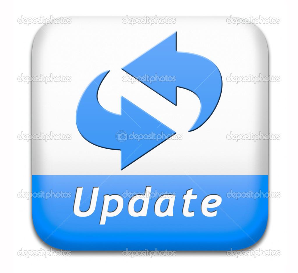 [更新] ボタン– ストック画像