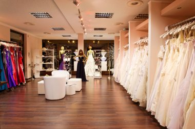 The bridal shop.