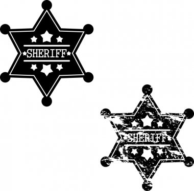Two sheriff badges