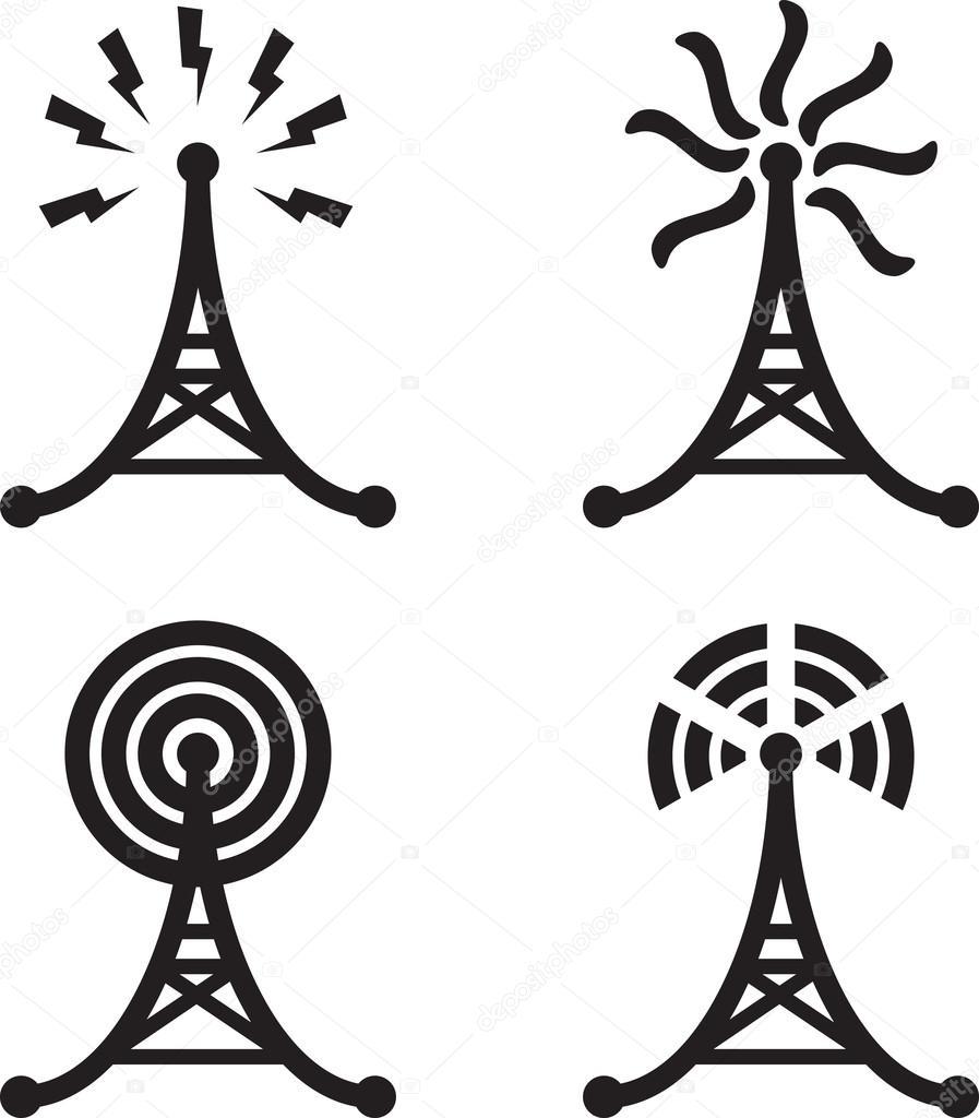 Radio tower — Stock Vector © longquattro #22528897