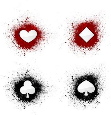 Ink blots cards suit
