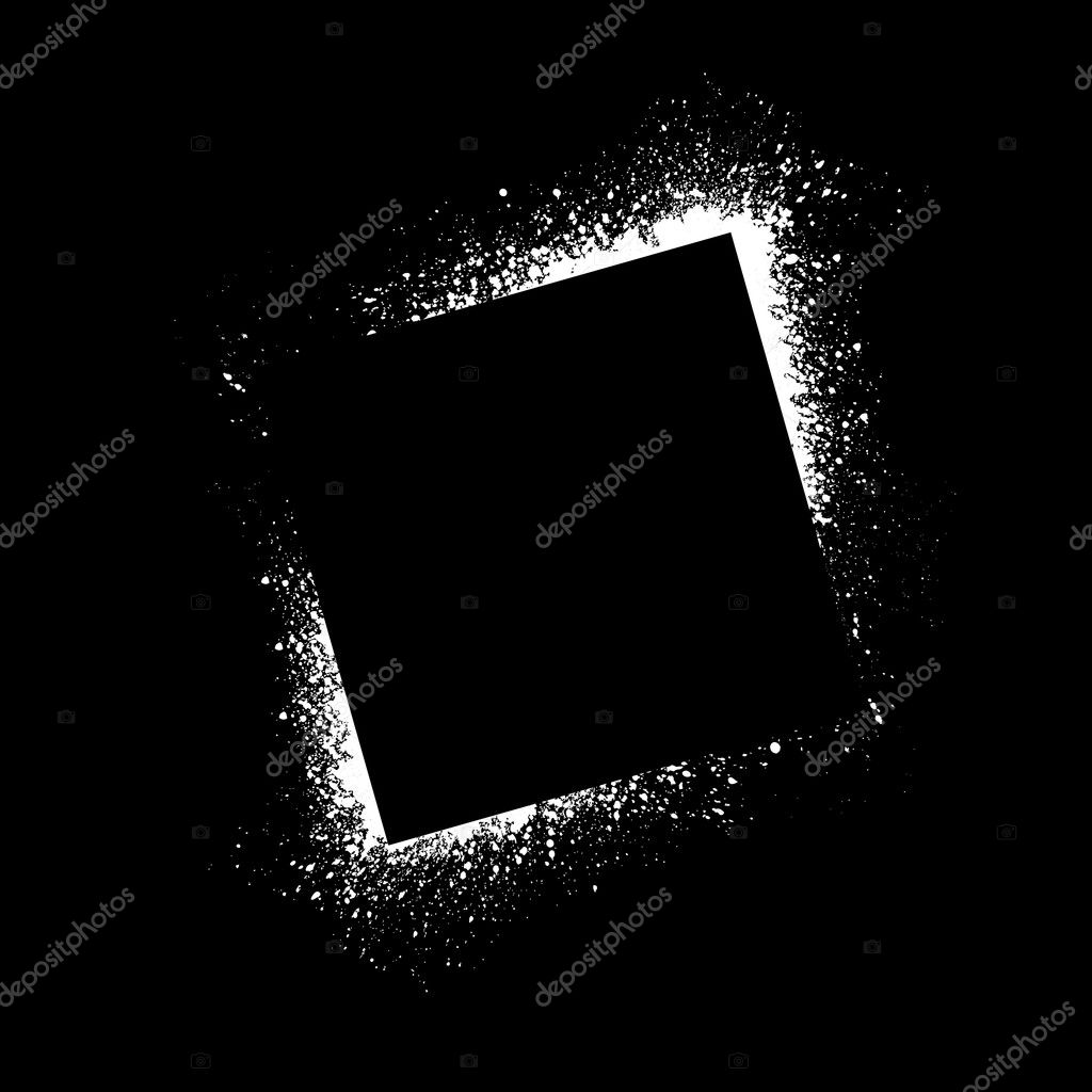 Ink blots square background