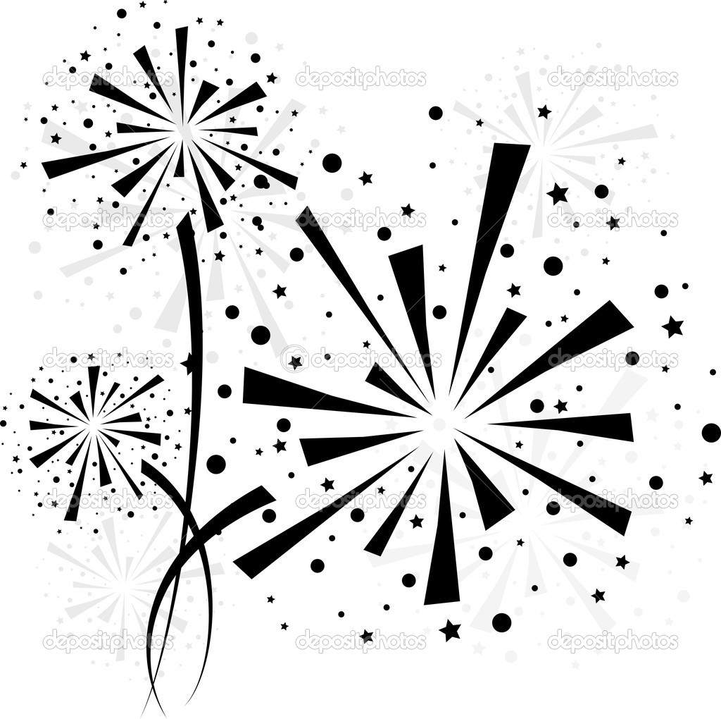 illustration vectorielle des feux d artifice et 233 toiles