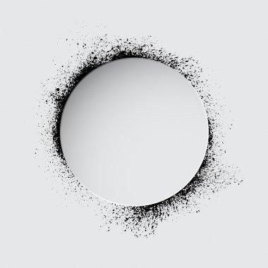 Grunge white circle