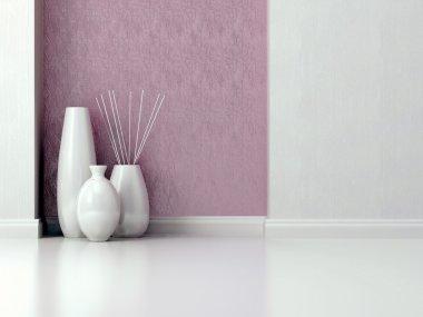 Interior design. Living room wall.