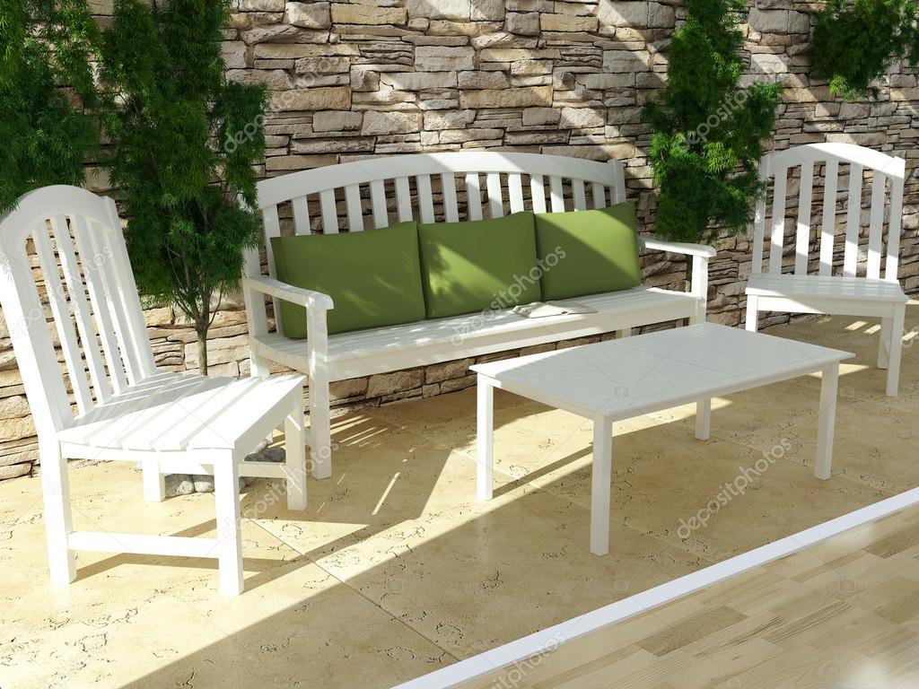 Exterior design. Open terrace . — Stockfoto © kosheen #43282183
