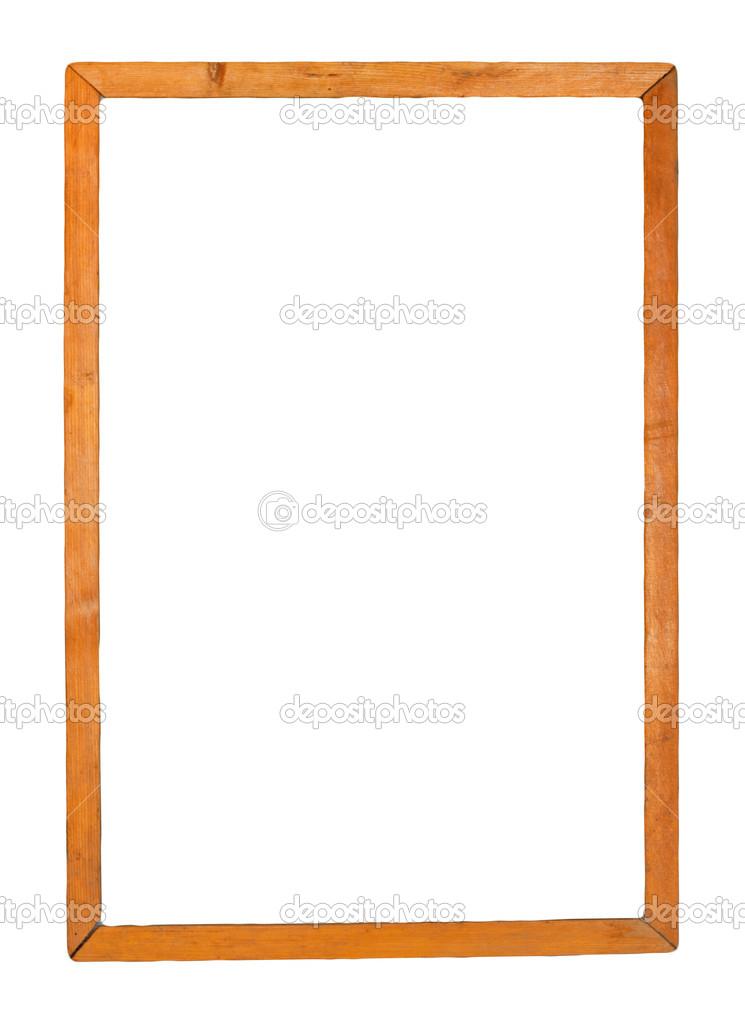 Marcos de madera aislados en blanco — Foto de stock © schankz #14663773